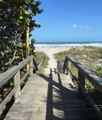 Cocoa Beach Wedding Walkway to the Beach Wedding