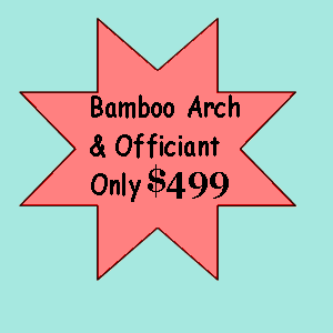 Bamboo Arch Cocoa Beach Wedding Package