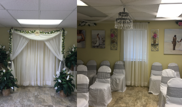 RandC Cocoa Beach Weddings inside wedding chapel
